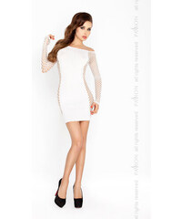 Erotické šaty Passion BS025 bílá, bílá