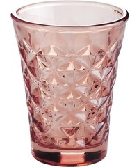 Svícen Facet glass Coral 10 cm