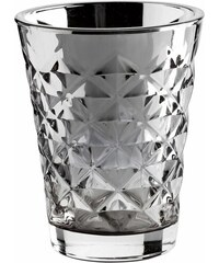 Tine K Home Svícen Facet glass Silver 10 cm