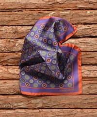 Hedvábný kapesníček fialový se vzorem Gagliardi