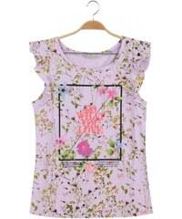 Dámské tričko květované S