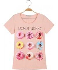 Dámské tričko s donuty S