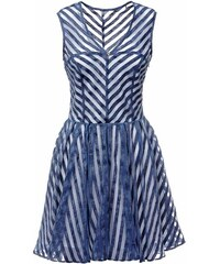 Guess Striped See-Through Details Dress