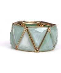 Krásná Bižu Náramek Stone Triangle zelený Z097