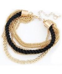 Krásná Bižu Náramek Rope Chain černý Z128