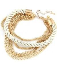 Krásná Bižu Náramek Rope Chain bílý Z129