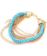 Krásná Bižu Náramek Rope Chain světle modrý Z167