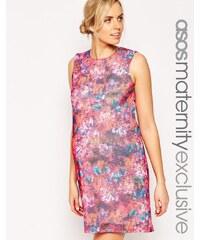 ASOS Maternity - Robe droite à imprimé floral texturé - Multi