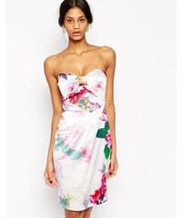 Lipsy - VIP - Robe bandeau coupe fourreau à imprimé fleurs d'été - Multi