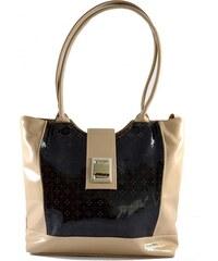 Černo béžová kabelka na rameno Venas 2604