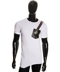 Glamorous by Glam Pánské bílé tričko se zipem