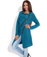 Dámský pletený kabátek Fobya F151 modrý (marine)