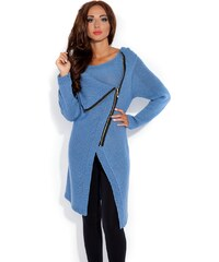 Dámský pletený kabátek Fobya F151 modrý