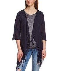 TOM TAILOR Denim Damen Poncho cardigan w fringes/504