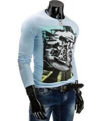 Tričko Brongo světle modré - modrá