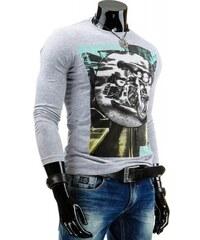 Tričko Brongo světle šedé - šedá