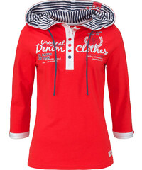 John Baner JEANSWEAR Shirt mit Kapuze, 3/4-Arm in rot für Damen von bonprix