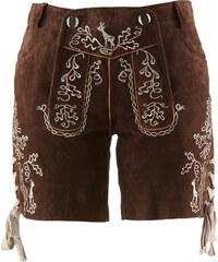 bpc bonprix collection Culotte-courte bavaroise avec broderie marron femme - bonprix
