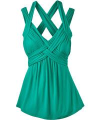 BODYFLIRT boutique Top vert sans manches femme - bonprix