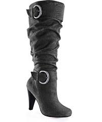 BODYFLIRT Bottes gris chaussures & accessoires - bonprix