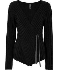 BODYFLIRT boutique Pull noir manches longues Près du corps femme - bonprix