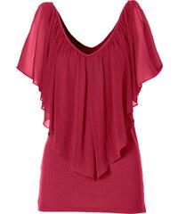 BODYFLIRT boutique T-shirt rouge manches courtes femme - bonprix