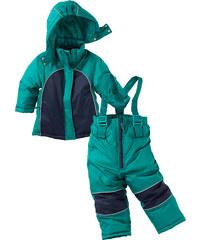 bpc bonprix collection Combinaison de ski (Ens. 2 pces.), T. 80-134 vert manches longues enfant - bonprix