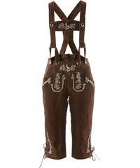 bpc bonprix collection Culotte-courte bavaroise avec bretelles et broderie marron femme - bonprix