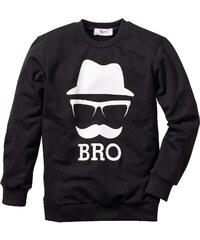 bpc bonprix collection Sweat-shirt noir manches longues enfant - bonprix