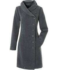 Manteau gris manches longues femme - bonprix