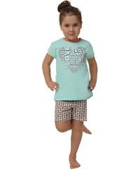 Pyžamo dívčí Italian Fashion Karmel kr.r.kr.k., pistáciová