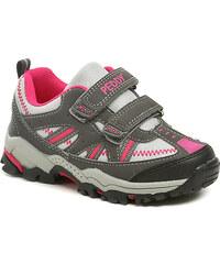 Dětská obuv Peddy PU-609-32-03 růžovo šedé dívčí tenisky
