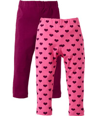 bpc bonprix collection Lot de 2 leggings, T. 80-134 rose enfant - bonprix