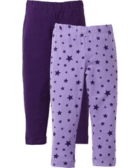 bpc bonprix collection Lot de 2 leggings, T. 80-134 violet enfant - bonprix