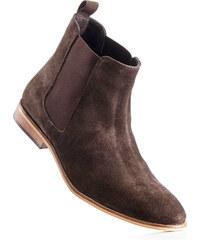 bpc selection Bottines en cuir marron chaussures & accessoires - bonprix