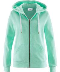 bpc bonprix collection Gilet sweat-shirt vert manches longues femme - bonprix