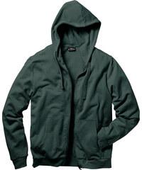 bpc bonprix collection Gilet sweat-shirt à capuche Regular Fit vert manches longues homme - bonprix