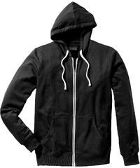 RAINBOW Gilet sweat-shirt Slim Fit noir manches longues homme - bonprix