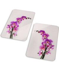 bpc living Plaques de protection Orchidée (Ens. 2 pces.) gris maison - bonprix