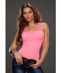 BEST EMILIE děrované dámské tričko - růžové