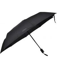 s.Oliver Pánský skládací plně automatický deštník X-PRESS - černý 746167SO-1