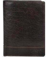 Lagen Pánská kožená peněženka Dark Brown V-26/T