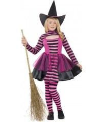 Černo růžová čarodějnice 10-12let