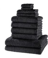 bpc living Serviettes de toilette New Uni (Ens. 10 pces.) noir maison - bonprix