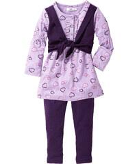 bpc bonprix collection Robe + legging (Ens. 2 pces.) violet manches longues enfant - bonprix