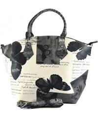 Černo bílá kabelka do ruky Marlen 1141