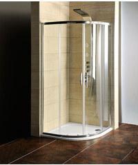 Sapho Čtvrtkruhová sprchová zástěna s vaničkou z litého mramoru 900x900x1900mm, čiré sklo