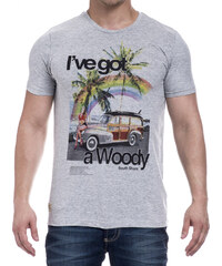 Lesara Herren T-Shirt I´ve got a Woody - Grau - S
