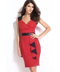Červeno černé sexy letní midi šaty 93db5898f9