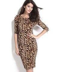 Leopardí letní midi šaty